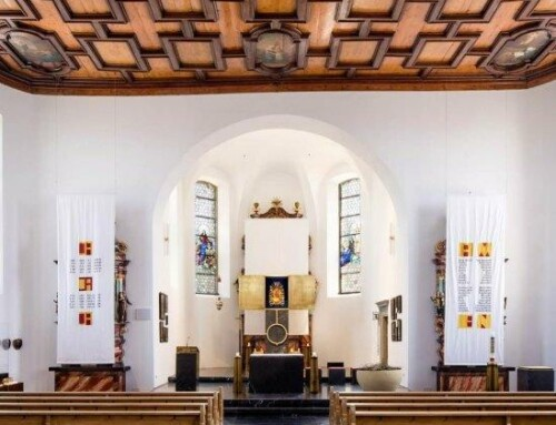 Festtagstücher in der Basilika